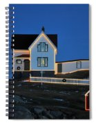 Christmas At The Nubble  Spiral Notebook