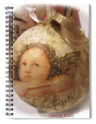 Christmas Ball , Angels Spiral Notebook