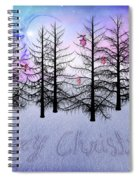 Christmas Bare Trees Spiral Notebook