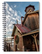 Christmas Barn On The Lake Spiral Notebook
