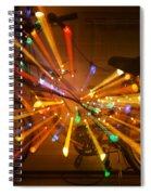 Christmas Bike Abstract Spiral Notebook