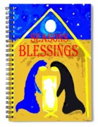 Christmas Blessings 5 Spiral Notebook