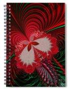 Christmas Butterfly Fractal 63 Spiral Notebook