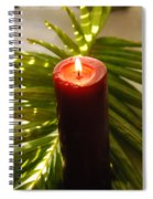 Christmas Candle 2 Spiral Notebook
