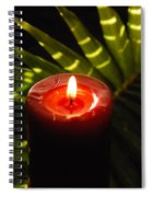 Christmas Candle Spiral Notebook