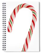 Christmas Candy Cane Spiral Notebook