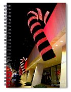 Christmas Candy Canes Spiral Notebook
