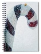 Christmas Candy Canes On Real Snow Spiral Notebook