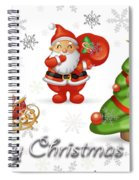 Christmas Card 12 Spiral Notebook