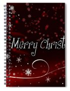 Christmas Card 3 Spiral Notebook