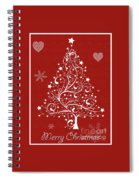 Christmas Card 5 Spiral Notebook