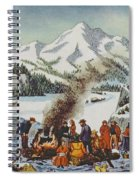 Christmas Card Depicting A Pioneer Christmas Spiral Notebook