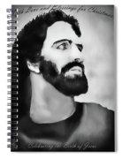 Christmas Card - Jesus Spiral Notebook