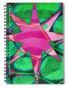 Christmas Celebration Abstract Painting Spiral Notebook