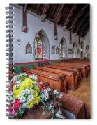 Christmas Church Flowers Spiral Notebook