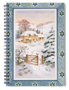 Christmas Cottage Spiral Notebook