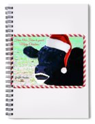 Christmas Cow Greeting Spiral Notebook
