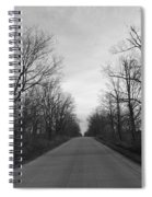 Christmas Day Country Road Spiral Notebook