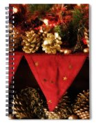 Christmas Decorations Of Garlands And Pine Cones Spiral Notebook