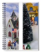 Christmas Display - Gently Cross Your Eyes And Focus On The Middle Image Spiral Notebook