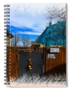 Christmas Down The Alleyway Spiral Notebook