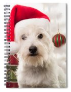 Christmas Elf Dog Spiral Notebook