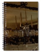 Christmas Eve In Brown And Gold  Spiral Notebook