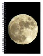 Christmas Eve Moon Spiral Notebook