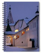 Christmas Evening Light In The Temple Suzdal Spiral Notebook