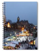 Christmas Fair Edinburgh Scotland Spiral Notebook