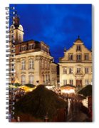 Christmas Fair In Front Of Town Hall Spiral Notebook