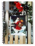 Christmas Flag Spiral Notebook