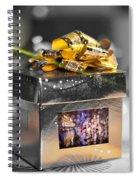 Christmas Golden Gift  Spiral Notebook