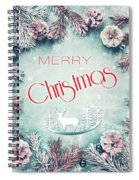 Christmas Greeting Card, By Imagineisle Spiral Notebook