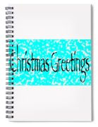 Christmas Greetings Snow Spiral Notebook