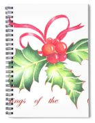 Christmas Holly Spiral Notebook
