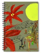 Christmas In The City Spiral Notebook