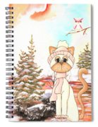 Christmas In The Forest Spiral Notebook