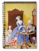 Christmas In The Royal Household Of Empress Maria Theresa Of Austria With Family Spiral Notebook