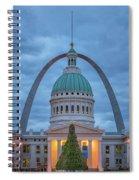 Christmas Jefferson National Expansion Memorial St Louis 7r2_dsc3574_12112017 Spiral Notebook