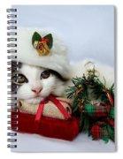 Christmas Kitten Spiral Notebook