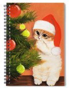 Christmas Kitty Spiral Notebook