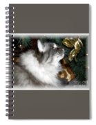 Christmas Kitty Spiral Notebook