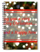 Christmas Lights Abstract Spiral Notebook