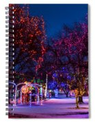 Christmas Lights At Locomotive Park Spiral Notebook