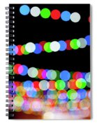 Christmas Lights Bokeh Blur Spiral Notebook