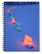 Christmas Lights In The Snow Spiral Notebook