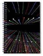 Christmas Lights Zoom Blur Spiral Notebook