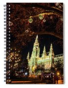 Christmas Market At The Vienna City Hall Spiral Notebook