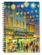 Christmas Market Spiral Notebook